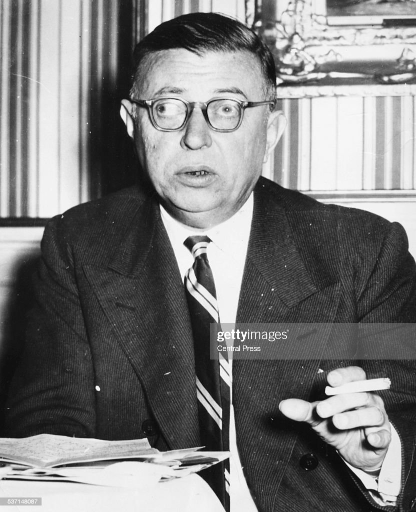 Portrait of French philosopher Jean Paul Sartre, circa 1940.
