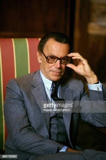 Portrait of French Politician Albin Chalandon Paris October 14 1986