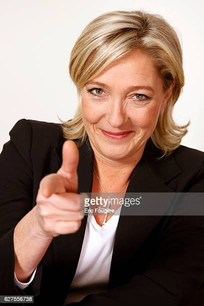Portrait of French Politician Vice President of the National Front Marine Le Pen