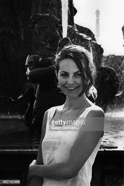 Portrait of French Portugueseborn pop singer and actress Lio in Paris France