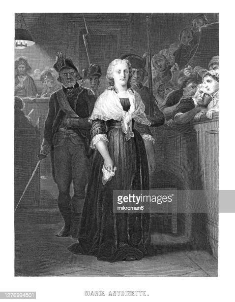 portrait of french queen marie antoinette being condemned to death by the revolutionary tribunal in october 1793 - execution stock pictures, royalty-free photos & images