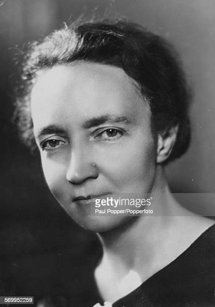 Portrait of French scientist Irene JoliotCurie following her resignation from government due to her allegiance to the communist Party circa 1940