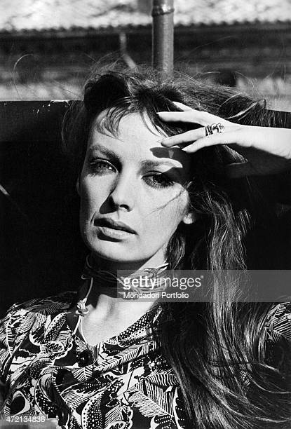 Portrait of French singer and actress Marie Laforet 1970