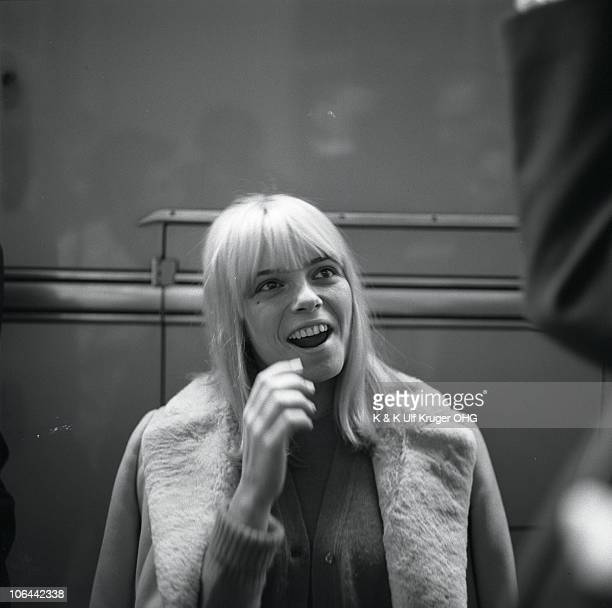 A portrait of French singer France Gall circa 1965 in Germany