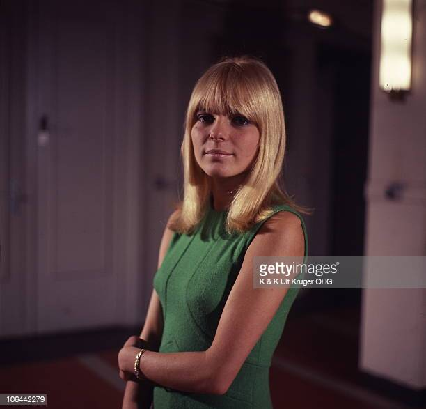 A portrait of French singer France Gall on the set of the TV Show 'Vergissmeinnicht' circa 1965 in Germany