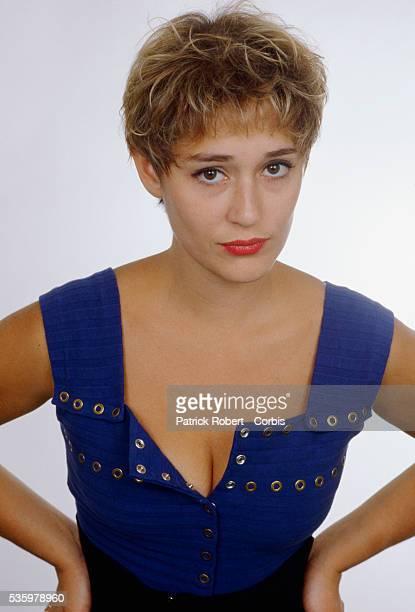 Portrait of French television host Daniela Lumbroso.