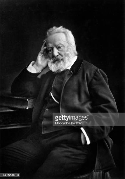 Portrait of French writer Victor Hugo 1880s