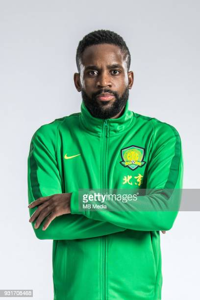 **EXCLUSIVE** Portrait of Frenchborn Congolese soccer player Cedric Bakambu of Beijing Sinobo Guoan FC for the 2018 Chinese Football Association...