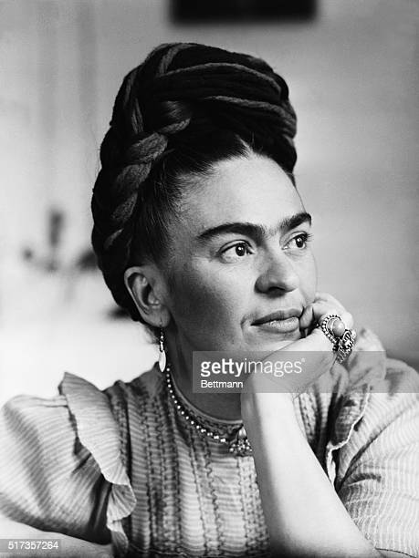 Portrait of Frida Kahlo Mexican painter wife of Diego Rivera