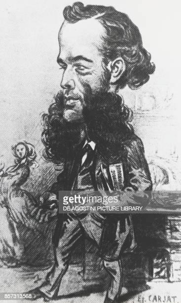Portrait of Friedrich August Kekule von Stradonitz German chemist engraving by Etienne Carjat