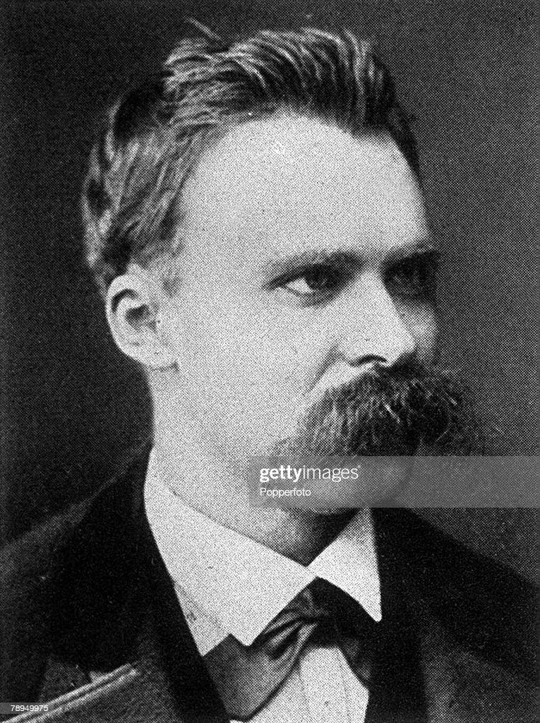 A portrait of Friedrich Nietzsche (1844-1900), the German philosopher, scholar and writer. : News Photo