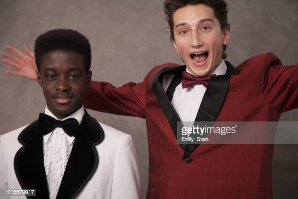portrait of friends at a prom - friends stock pictures, royalty-free photos & images