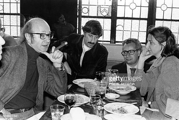 Portrait of from left cartoonists Jules Feiffer and Stan Mack journalist Jack Newfield and editor Marianne Partridge all of the Village Voice...