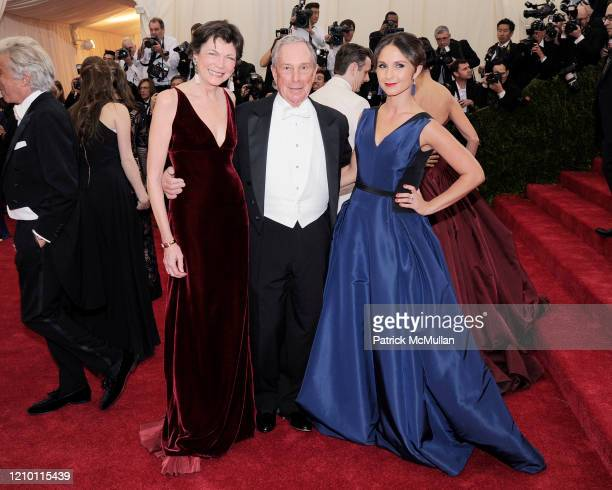 Portrait of, from left, Diana Taylor, New York City Mayor Michael Bloomberg, and his daughter, Georgina Bloomberg, as they attend a Metropolitan...