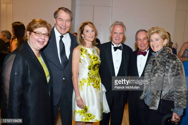 Portrait of, from left, Donna De Salvo, Charlie Rose, Amanda Burden, John Rafferty, New York City Mayor Michael Bloomberg, and Emily Rafferty as they...