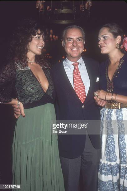 Portrait of from left Dutch actress Willeke van Ammelrooy American author Robin Moore and Moores' wife singer Mary Olga as they pose together at...