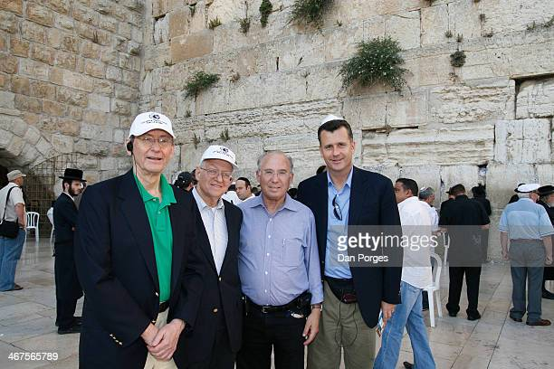 Portrait of from left economist William R Rhodes Professor of Economics at Harvard University Martin Feldstein former Governor of the Bank of Israel...