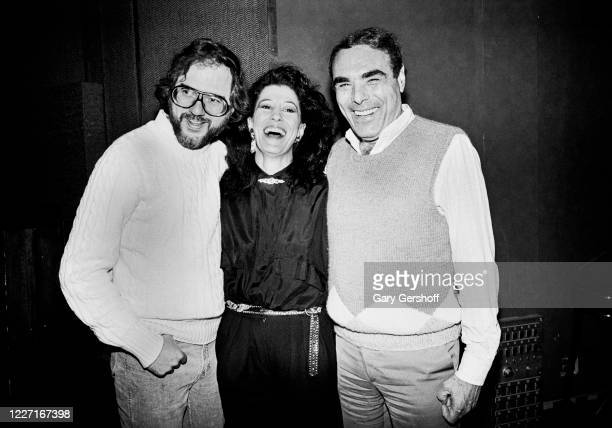 Portrait of, from left, English-American musician, producer, and playwright Rupert Holmes , American singer Rita Coolidge, and businessman and...