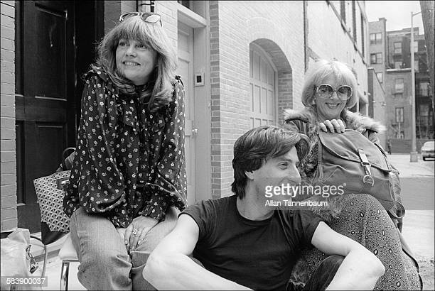 Portrait of from left French actress Jeanne Moreau director JeanLouis Hym and actress Micheline Presle New York New York April 22 1979 Hym and Presle...