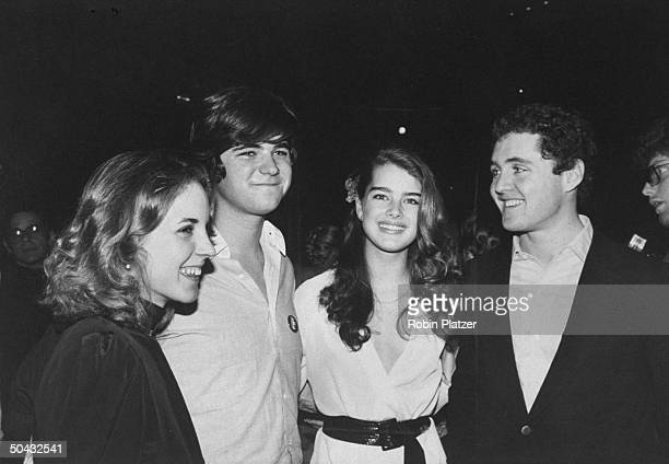 Portrait of from left Goody Fox William Kennedy Smith actress and model Brook Shields and Smith's brother Stephen Edward Smith Jr as they attend a...