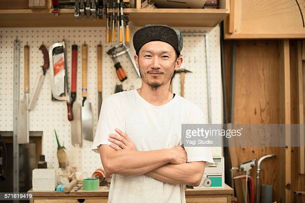 Portrait of furniture craftsman