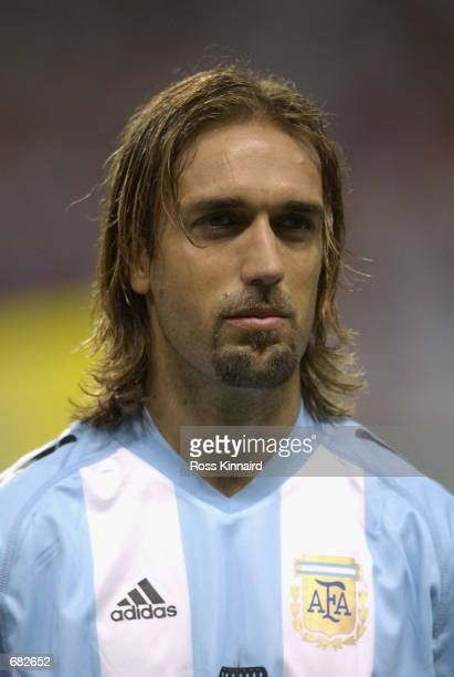 Portrait of Gabriel Batistuta of Argentina before the FIFA World Cup Finals 2002 Group F match between England and Argentina played at the Sapporo...