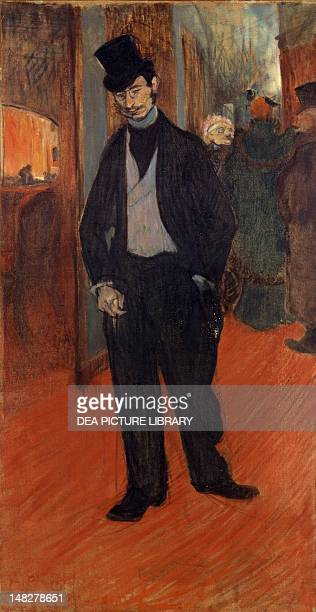 Portrait of Gabriel Tapie de Celeyran by Henri de Toulouse Lautrec oil on canvas 110x56 cm Albi Musée ToulouseLautrec