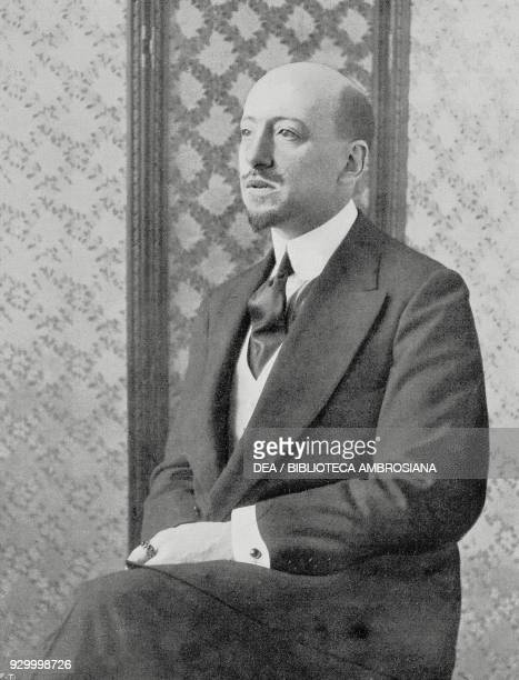 Portrait of Gabriele d'Annunzio Italian writer and patriot photo by H Manuel from L'Illustrazione Italiana Year XXXVII No 31 July 31 1910