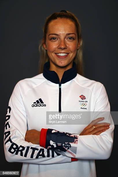 A portrait of Gabrielle Adcock a member of the Great Britain Olympic Badminton team during the Team GB Kitting Out ahead of Rio 2016 Olympic Games on...