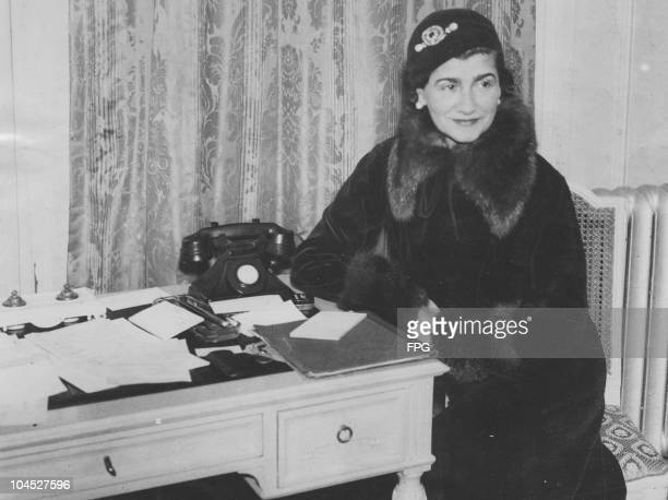 A portrait of Gabrielle Chanel world renowned dressmaker and dictator of fashion June 18 1936