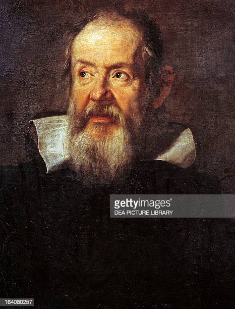 Portrait of Galileo Galilei , Italian physicist,philosopher, astronomer and mathematician. Painting by Justus Sustermans oil on canvas, 66x56 cm....