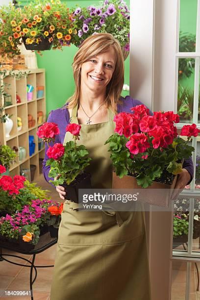 Porträt von Garten-Center Blumengeschäft Shopkeeper Vt