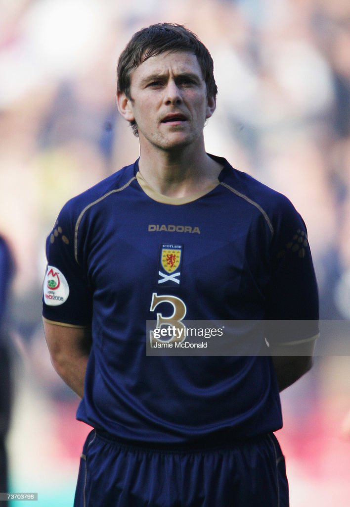 A portrait of Gary Naismith of Scotland during the Euro2008, Group B, qualifier between Scotland and Georgia on March 24, 2007 at Hampden Park, Glasgow, Scotland.