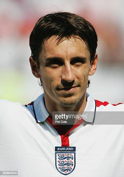 Portrait of Gary Neville of England prior to the UEFA Euro 2004 Group B match between England and Switzerland on June 17, 2004 at the Estadio Cidade...