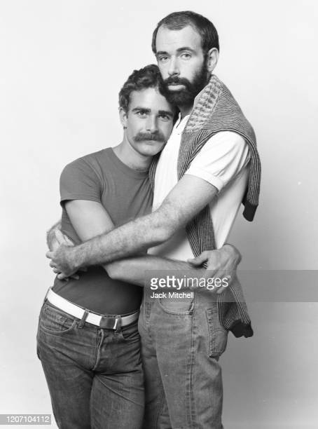 Portrait of Gay marriage activists Chris Forbes and Robbie Morgan, photographed for After Dark magazine, September 20, 1976.