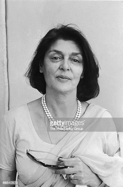 Portrait of Gayatri Devi, Rajmata of Jaipur and wife of Maharaja Jai Singh taken on July 25, 1980 in India.