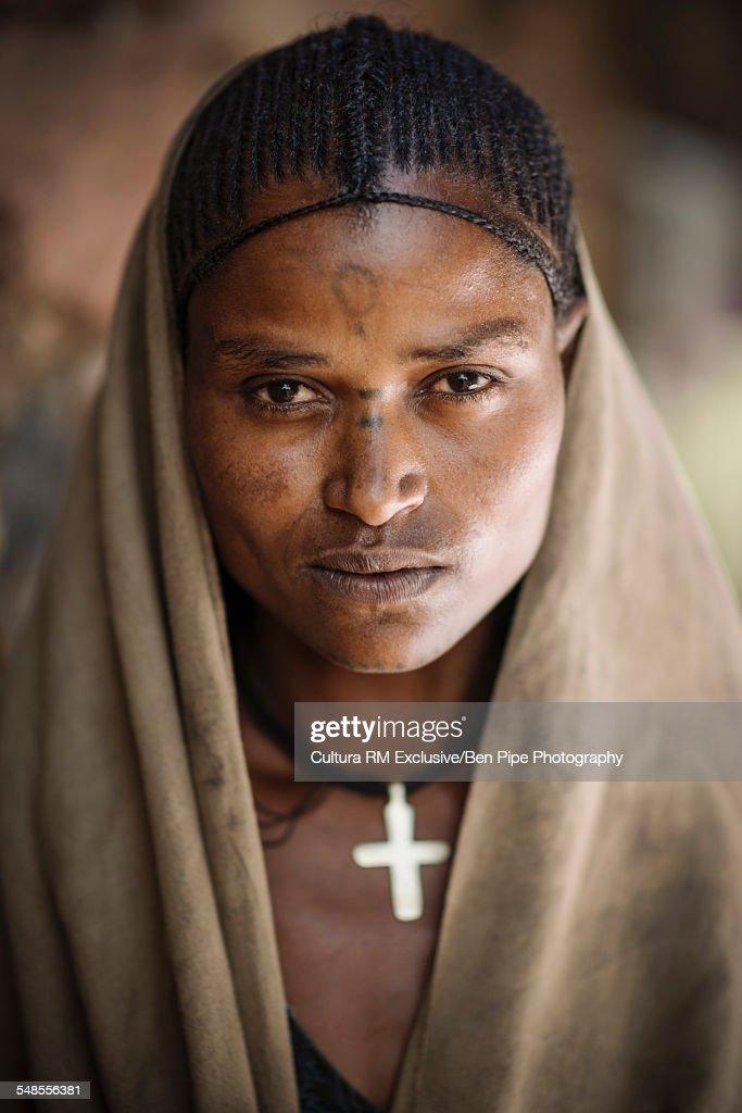 Portrait of Gdada, Lalibela, Ethiopia : Stock Photo