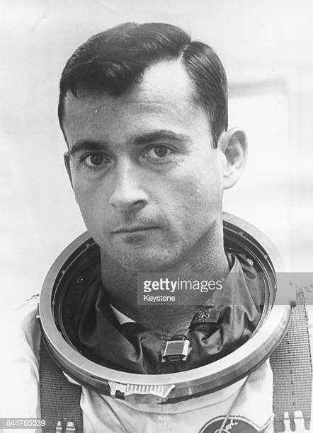 Portrait of Gemini10 astronaut John W Young wearing his flight suit July 19th 1966