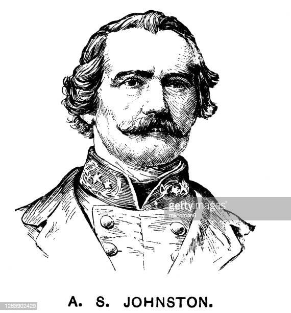 portrait of general albert sidney johnston - governor stock pictures, royalty-free photos & images