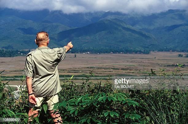 Portrait of General Bigeard in Dien Bien Phu Vietnam in1994
