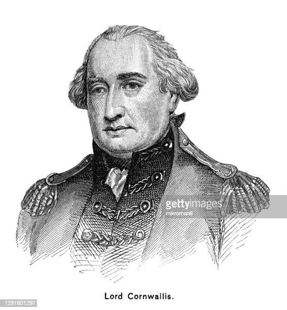 portrait of general charles cornwallis - united states presidential election stock pictures, royalty-free photos & images