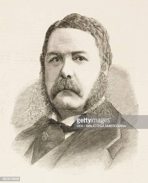 Portrait of General Chester Alan Arthur VicePresident of the United States of America illustration from the magazine The Graphic volume XXIV no 606...