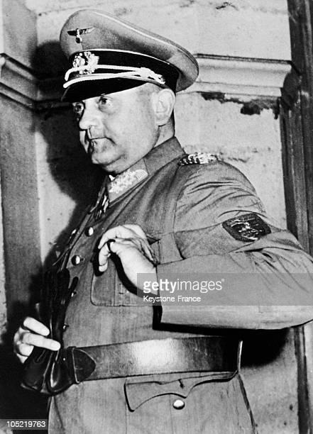 Portrait Of General Dietrich Von Choltitz The CommanderInChief Of German Forces In Paris At General Leclerc'S Headquarters At Montparnasse Train...