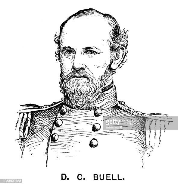 portrait of general don carlos buell, united states army officer - governor stock pictures, royalty-free photos & images