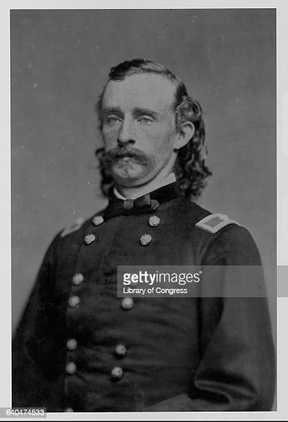 A portrait of General George Armstrong Custer in his military uniform