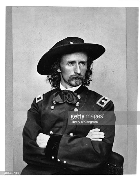 Portrait of General George Armstrong Custer in his military uniform