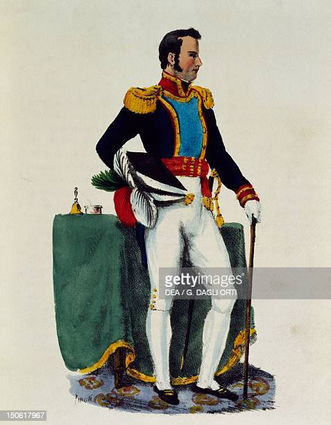 Portrait of General Guadalupe Victoria pseudonim of Manuel Felix Fernandez president of the Mexican Republic Mexico 19th century