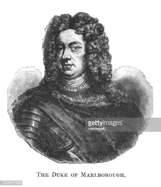 portrait of general john churchill, 1st duke of marlborough, 1st prince of mindelheim, 1st count of nellenburg, prince of the holy roman empire - duke stock pictures, royalty-free photos & images