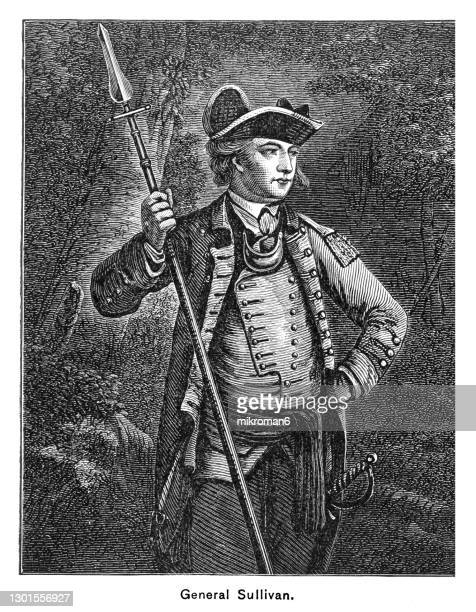 portrait of general john sullivan, irish-american general in the revolutionary war - governor stock pictures, royalty-free photos & images