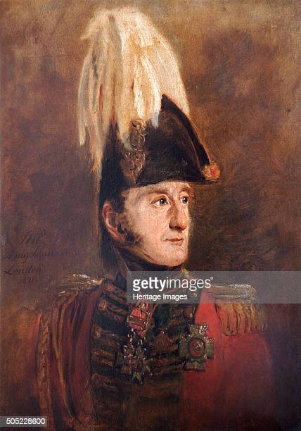 Portrait of General Lord Edward Somerset British soldier 1821 In 1815 at the Battle of Waterloo Brigadier Somerset commanded the Household Cavalry...